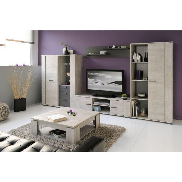 loft salon complet décor gris 2 pièces 5 pièces 1 table basse + 1