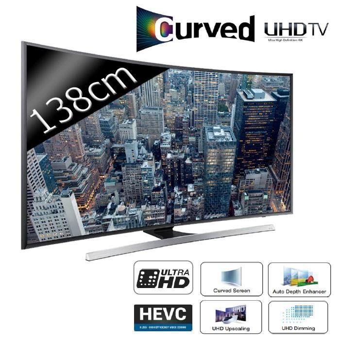 Samsung Curve 4K UE55JU7500 téléviseur led, prix pas cher