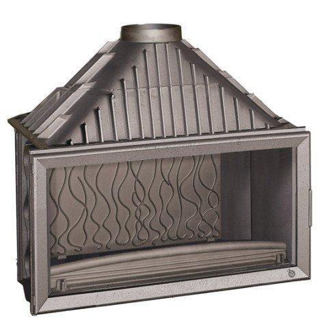 Foyer à bois façade droite INVICTA 6211 44 18 kW |