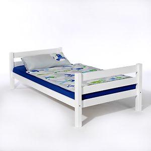 Lit/cadre de lit, en hêtre lasuré blanc «90 x 200 / SANS SOMMIER