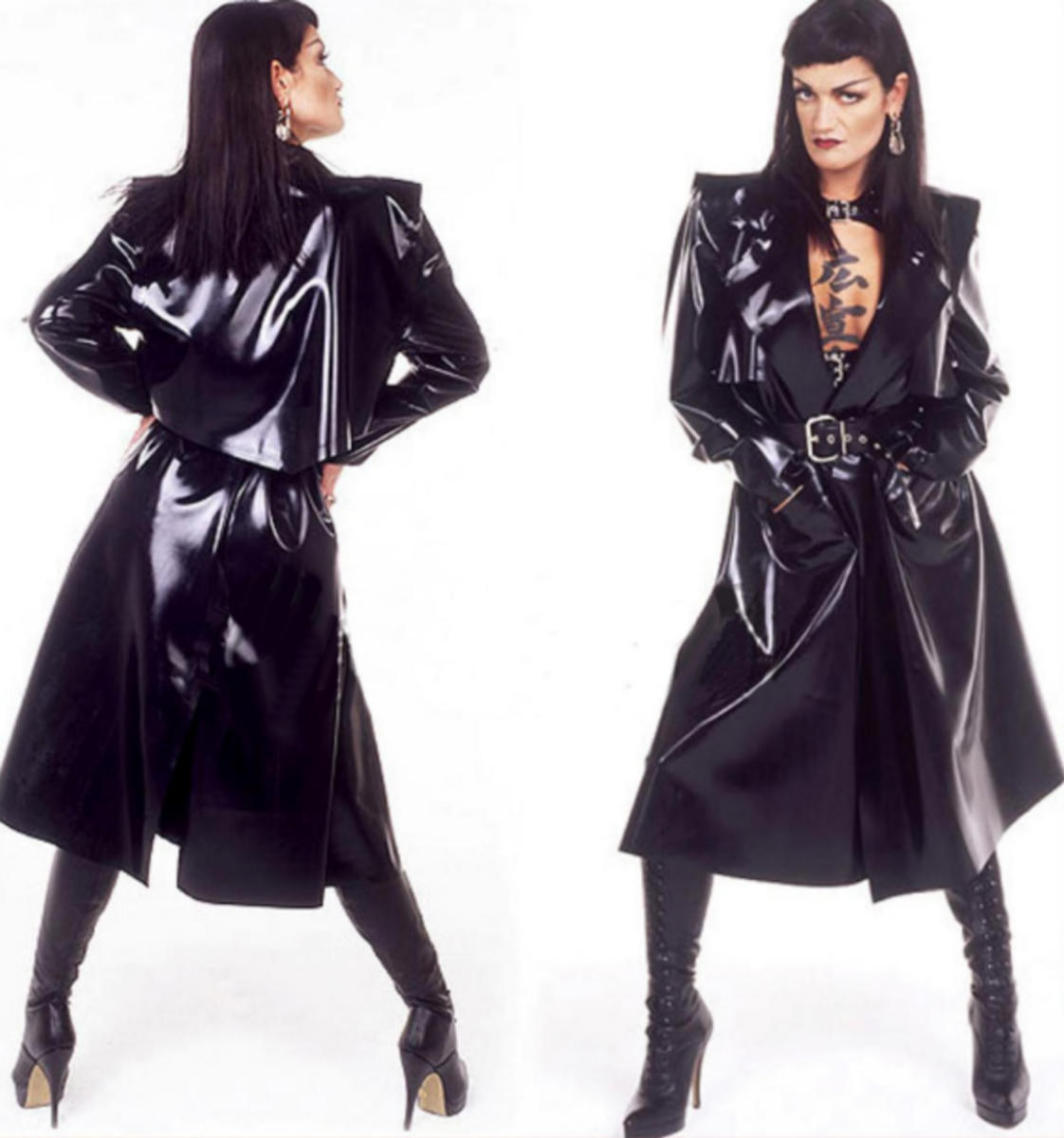 IMPERMEABLE LATEX SEXY FETISH RUBBER COAT GOTHIQUE