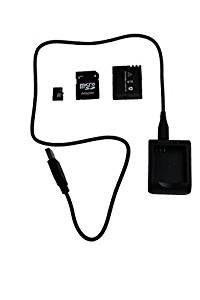 TecTecTec Carte Micro Sd 32 Go, Chargeur et Batterie pour Action Cam