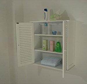 Armoire murale de salle de bain,blanc, HC 011: Cuisine
