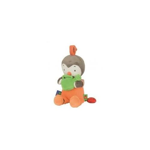 Peluche Musicale T'choupi Et Doudou Salopette Orange Arrosoir Vert