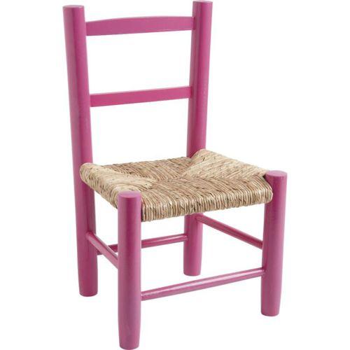 Aubry Gaspard Petite chaise bois pour enfant Framboise pas cher