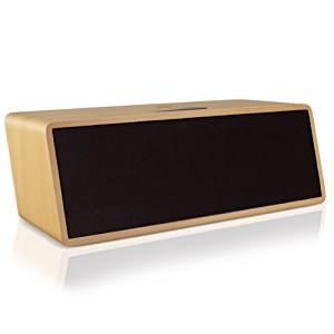 GOgroove Haut Parleur Enceinte Bluetooth portable Bois Sans Fil Design