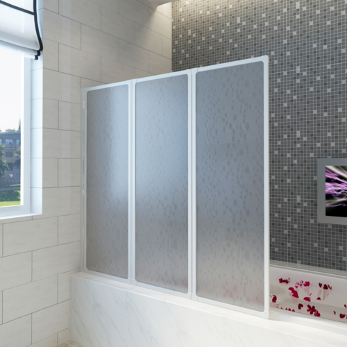 Top prix Superbe Pare baignoire à 3 volets rétractables 117 x 120