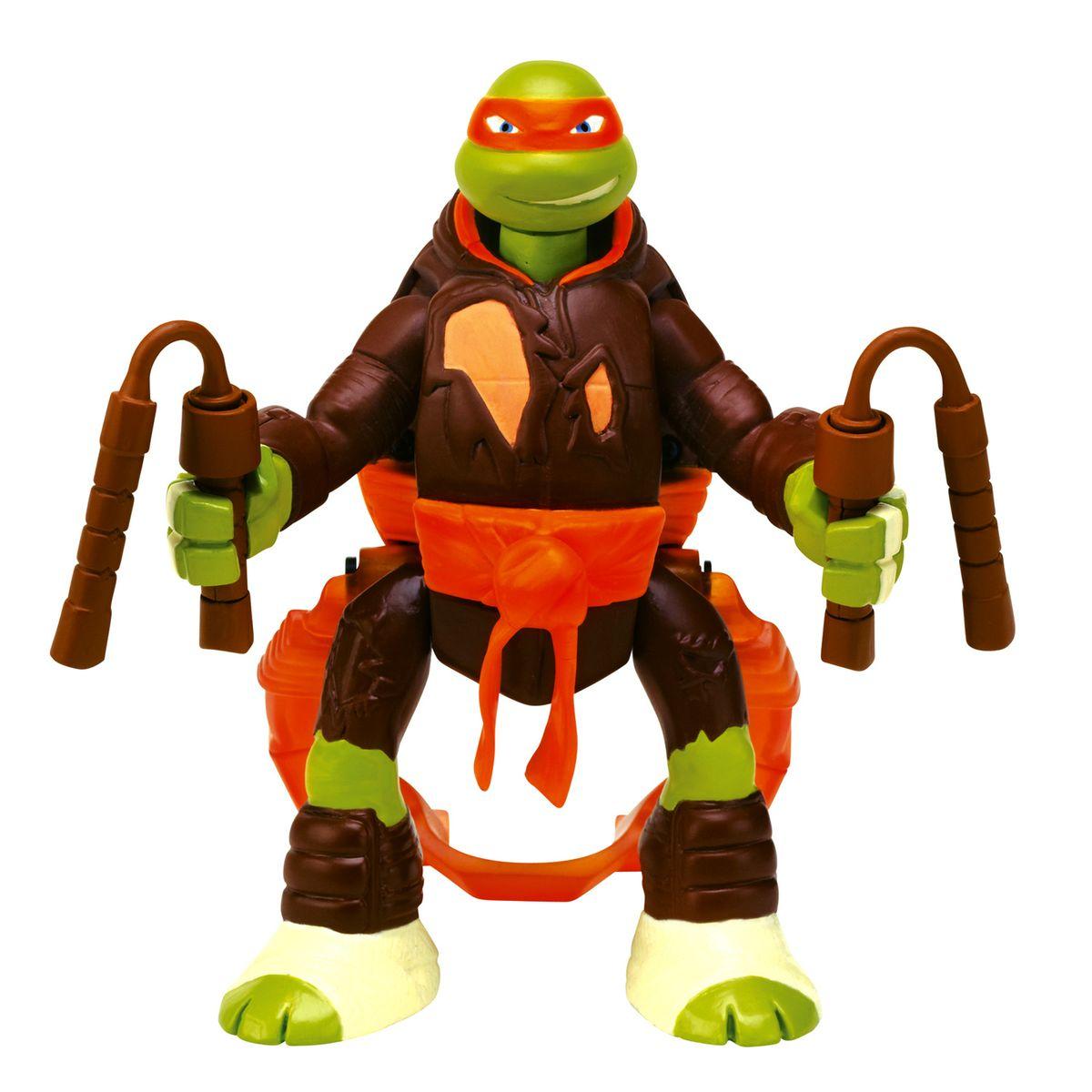 Figurine tortues ninja : saut d'attaque : michelangelo Giochi Preziosi