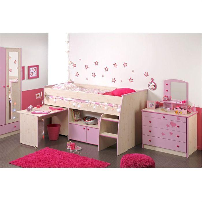 Lit pour fille topiwall for Chambre fille 9 ans