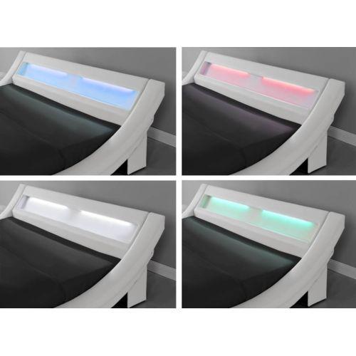 Design et Prix Magnifique Lit Milano 160 x 200 cm Cadre de lit Led