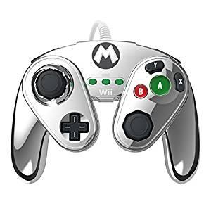 Manette fight pad pdp pour wii u édition limitée Mario métal