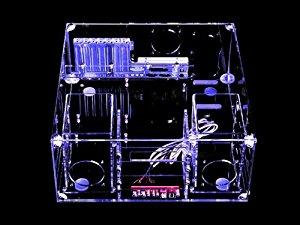Sunbeam Boitier Desktop Plexi Acrylic HTPC UV Bleu