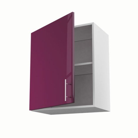 Meuble de cuisine haut violet 1 porte Rio H.70 x l.60 x P.35 cm
