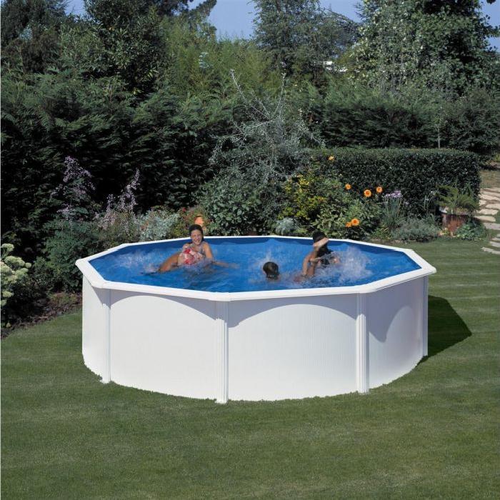 GRE Piscine ronde Eco 5.50m h 1.20m Blanc Achat / Vente piscine GRE