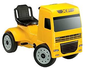 Camion à pédales DAF XF, jaune: Auto et Moto