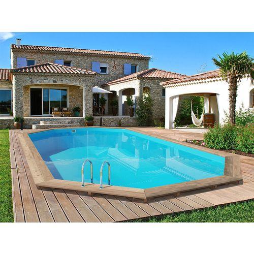 Habitat et Jardin Piscine bois Palma 7.57 x 4.07 x 1.31 m pas