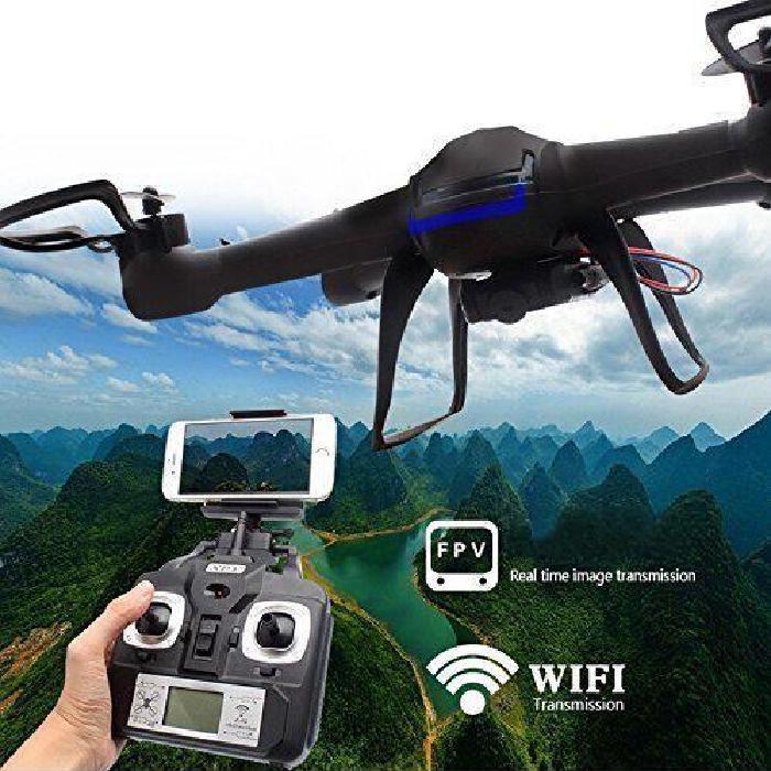 BRO Drône RC Radiocommandé avec caméra et PFV Wifi Drône