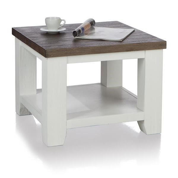 Table basse 60 x 60 cm acacia massif VELASCO H&H Achat / Vente table