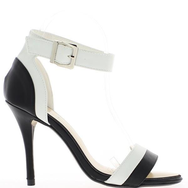 3f520b7f8d07 Sandales bicolores noir et blanc Noir Noir Achat   Vente escarpin