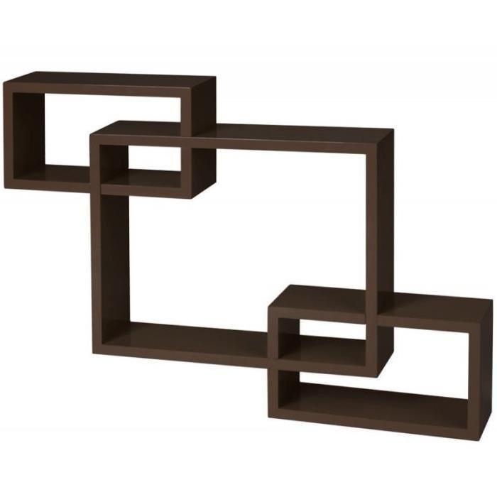 Vente meuble étagère Étagère murale x3 cube marr
