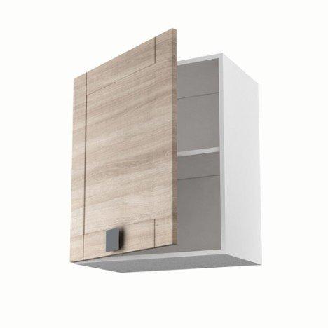 Meuble de cuisine haut décor chêne blanchi 1 porte Karrey H.70 x l