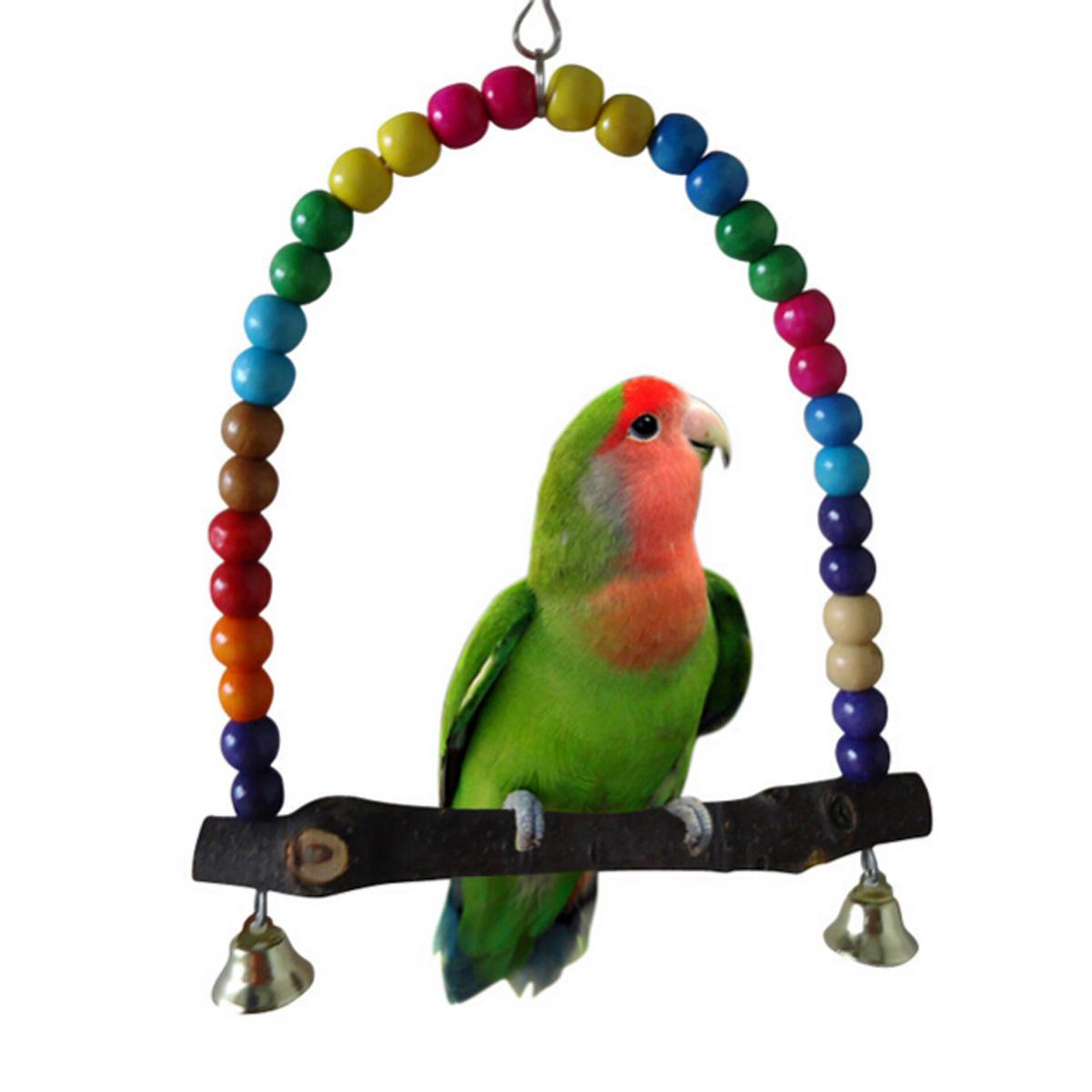 Jouet pour oiseau balançoire suspension échelle bois cage perruche