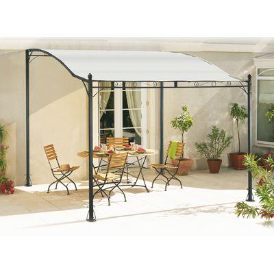Auvent de terrasse topiwall - Auvent de jardin en toile ...