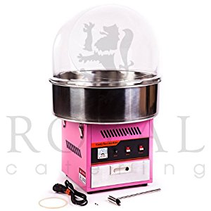 Royal Catering RCZK 1200E Machine à barbe à papa avec bulle