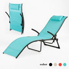 Chaise de camping topiwall for Relax plage pliante