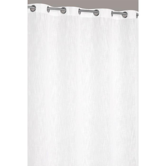 Rideau Uni Effet Lin 140×240 cm Blanc Naturel Achat / Vente rideau