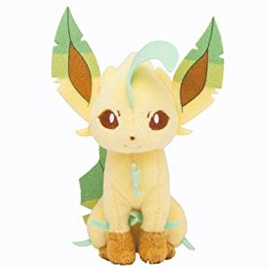 Pokemon Center Plush Toy Original Sit pose LEAFEON (japan import