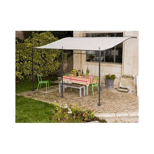 Tonnelle 4 3 toile retractable topiwall - Tonnelle adossee toile retractable ...