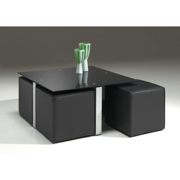 table basse avec pouf topiwall. Black Bedroom Furniture Sets. Home Design Ideas
