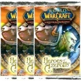 World of Warcraft TCG WoW Trading Card Game Heroes of Azeroth Booster