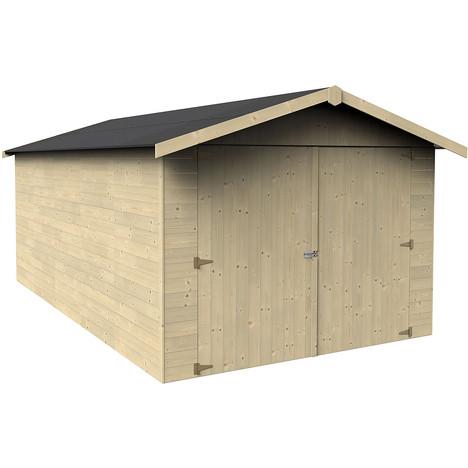 Garage bois Genech / 12,36 m² Abri voiture bois à prix : pas