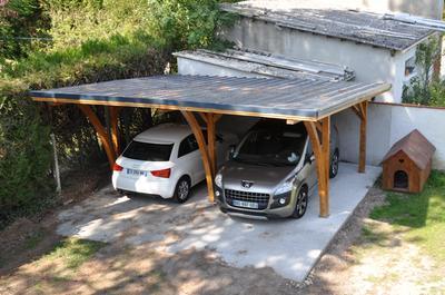 Carport bois Grancey 2 voitures, 32 m² |