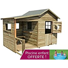 maisonnette enfant en bois : Jardin