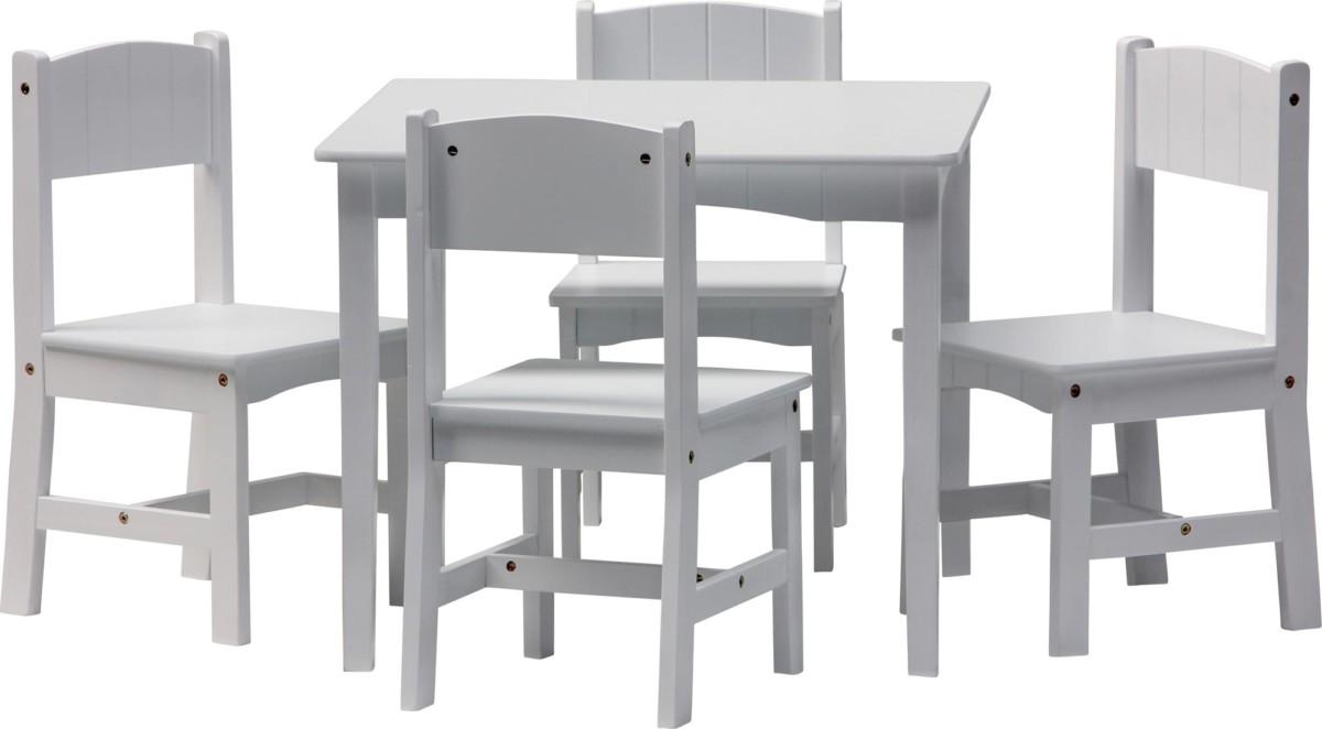 Ensemble table et chaises enfant ENZO 5 pièces Set meubles bois