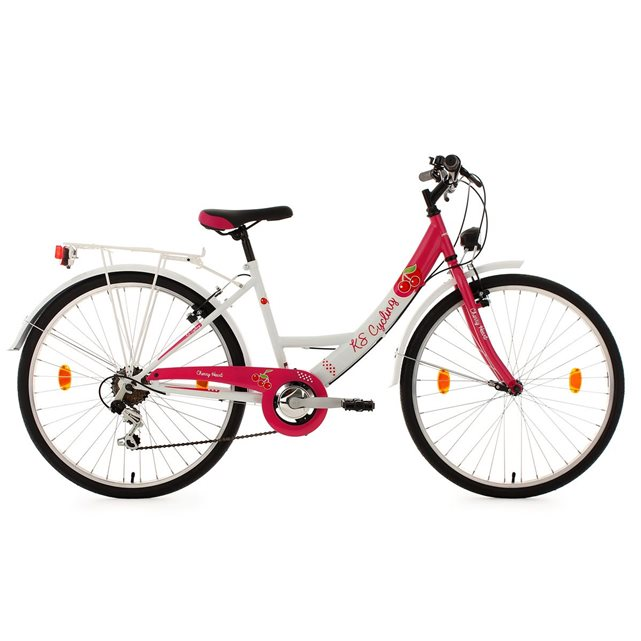 Vélo enfant 26 » cherry heart rose tc 41 cm ks cycling Ks | La