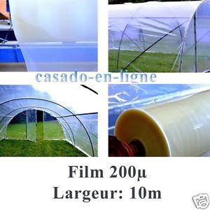 POLYANE professionnel 200µ 10 m de large pour serre tunnel de jardin
