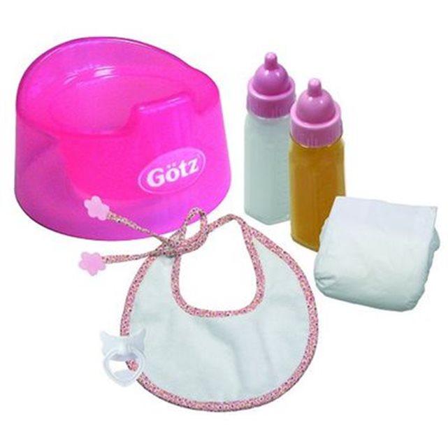 Accessoires de poupées : Götz Boutique : Coffret Repas et hygiène