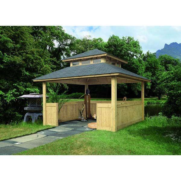 Kiosque Pavillon Bois Pefc Carré 3,59X3,59m Achat / Vente kiosque