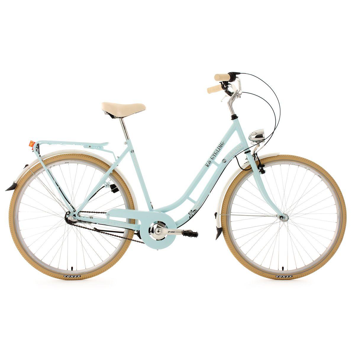 Vélo de ville femme 28» 3 vitesses Casino bleu TC 54 cm KS Cycling