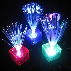 LED Fibre Optique Lampe Veilleuse Lumiere Nuit Deco Chambre Party Noel