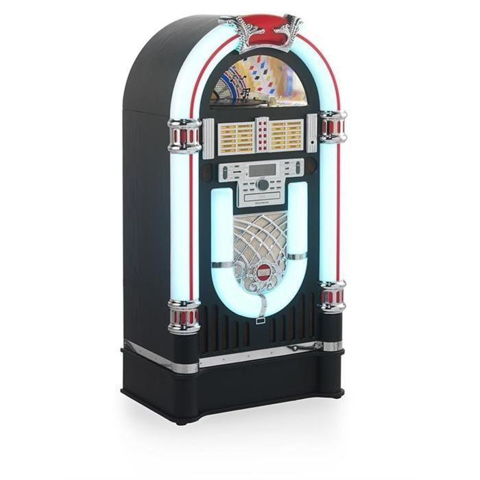 Ricatech RR3000 Jukebox USB SD AUX CD FM/AM Couleur Noir & Blanc