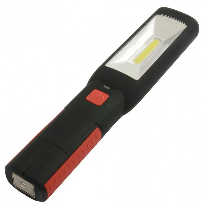 Baladeuse / torche aimantée rechargeable LED COB 3W