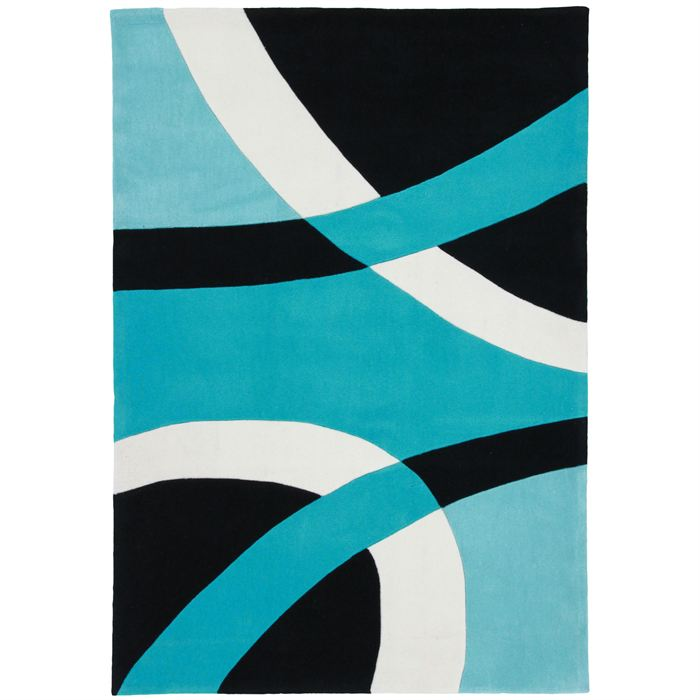 Tapis de salon topiwall for Tapis turquoise et gris