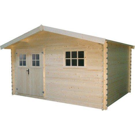 Abri bois Vannes 2, 9.97 m² Ep.28 mm |