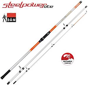 DAM Steelpower Lite Surf Canne surfcasting, 100 200g, 3 brins