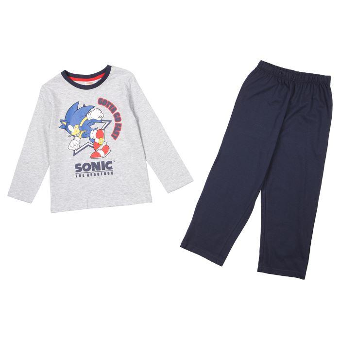 SONIC Pyjama Enfant Garçon Gris et bleu marine Achat / Vente pyjama